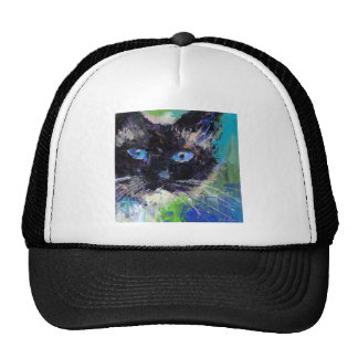 Ragdoll cat painting trucker hats