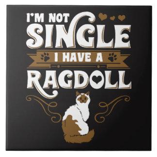 Ragdoll Cat Quotes Ceramic Tile