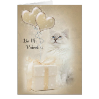 Ragdoll cat valentine card
