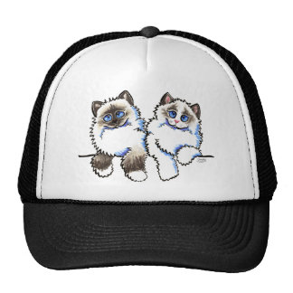 Ragdoll Cats Pair of Dolls Off-Leash Art™ Cap