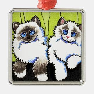 Ragdoll Cats Pair of Dolls Off-Leash Art™ Metal Ornament