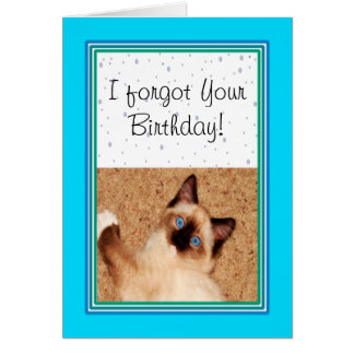 Ragdoll Kitten Happy Belated Birthday Card