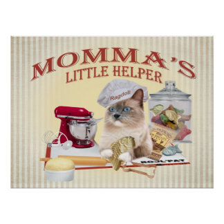 Ragdoll Momma's helper Prints