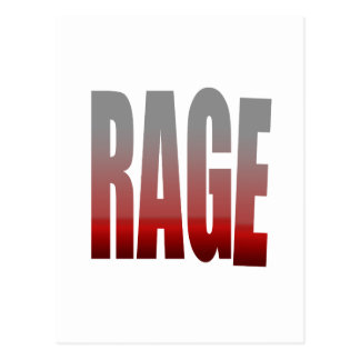 rage - anger post cards