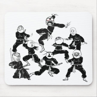 Rage Comic Meme Faces Ninja Gang Mousepad