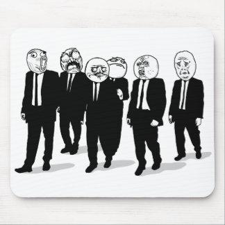 Rage Comic Meme Faces Walking. Me Gusta. Mouse Pad