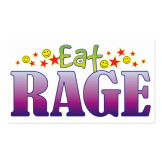 Rage Eat Pack Of Standard Business Cards