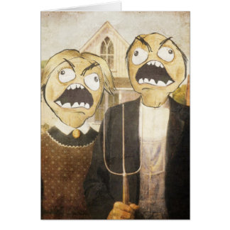 Rage Face Meme Face Comic Classy Painting Card