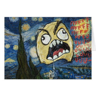 Rage Face Meme Face Comic Classy Painting Greeting Card