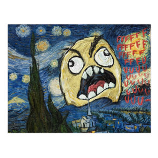 Rage Face Meme Face Comic Classy Painting Postcard