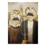 Rage Face Meme Face Comic Classy Painting Posters