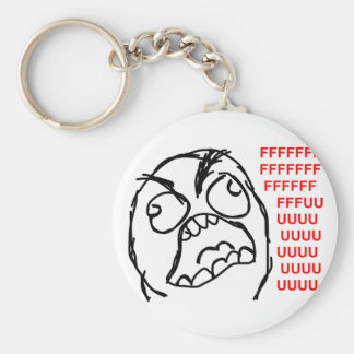 rage face rage comic meme lol rofl basic round button key ring