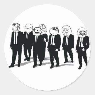 Rage Gang Round Stickers