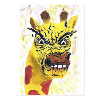 Rage Giraffe Postcard