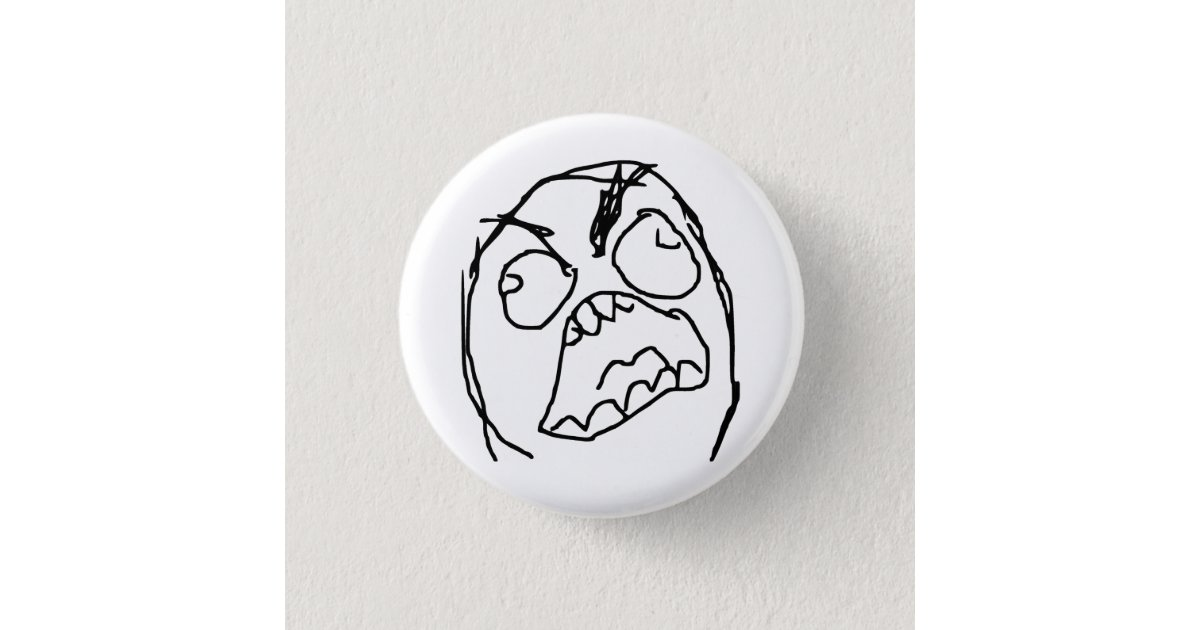 Rage Guy Angry Fuu Fuuu Rage Face Meme 3 Cm Round Badge | Zazzle com au