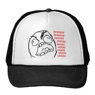 Rage Guy Angry Fuu Fuuu Rage Face Meme Cap