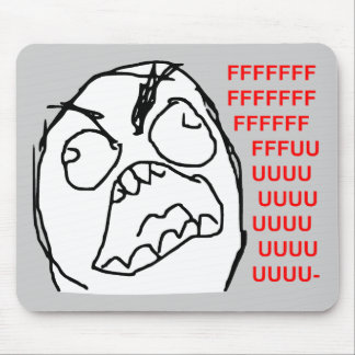 Rage Guy Angry Fuu Fuuu Rage Face Meme Mouse Pads