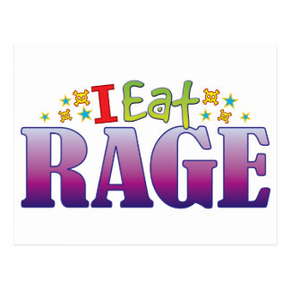 Rage I Eat Postcard
