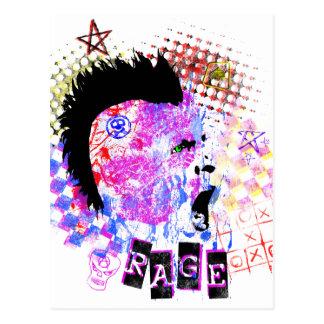rage postcard