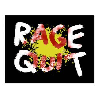 Rage Quit Dark Post Card