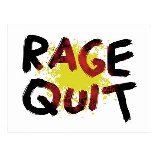Rage Quit Post Card