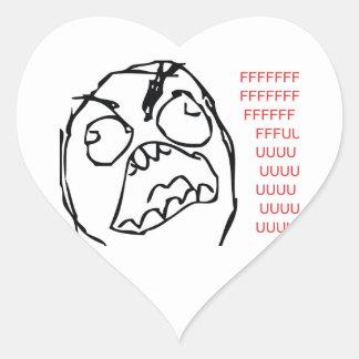 Rage Troll Heart Sticker