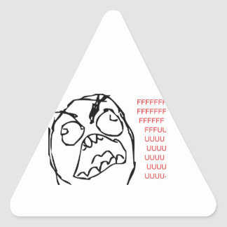 Rage Troll Triangle Sticker