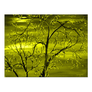 Rage Yellow Abstract Art by Mark Moore Postcards