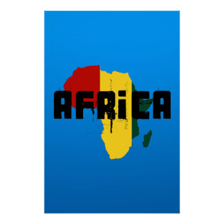 Ragga Africa Reggae style map of Africa Poster