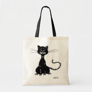Ragged Evil Black Cat Budget Tote Bag