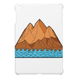 Ragged Mountain Waves Mono Line iPad Mini Cover