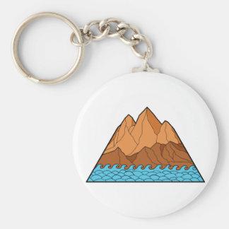 Ragged Mountain Waves Mono Line Key Ring