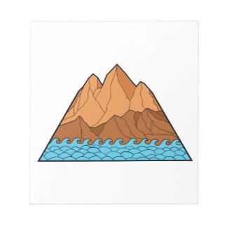 Ragged Mountain Waves Mono Line Notepad