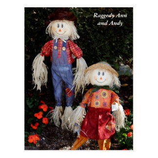 Raggedy Ann and Andy Post Card