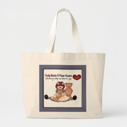 Raggedy Annie and Bear Country Decor Canvas Bags
