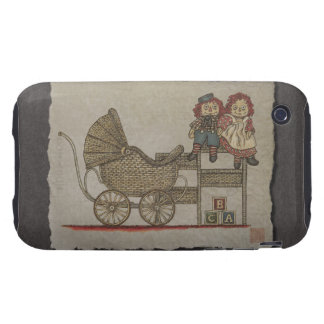 Raggedy Doll & Baby Buggy iPhone 3 Tough Covers
