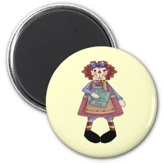Raggedy May 6 Cm Round Magnet