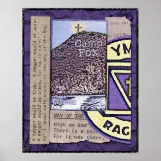 Raggers: Bibles Peak with Ragger Emblem and Lyrics Poster