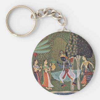 Râginâ Vasanta (Spring) Krishna Dancing To The Mus Key Chain