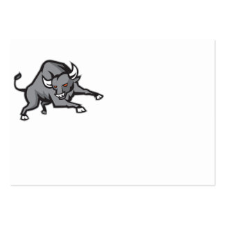 Raging Bull Attacking Charging Retro Business Card Templates