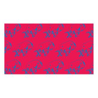 Raging Bull Blue Magenta.ai Business Card Template