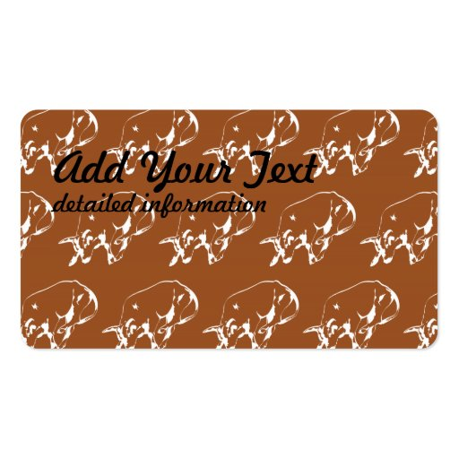 Raging Bull Brown White Business Card