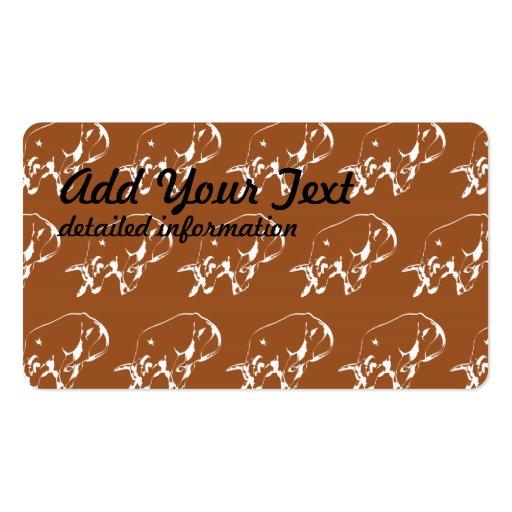 Raging Bull Brown White Business Card
