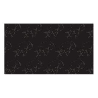 Raging Bull Dark Pack Of Standard Business Cards