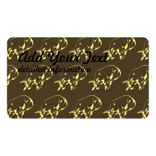 Raging Bull Dark yellows Business Card Template