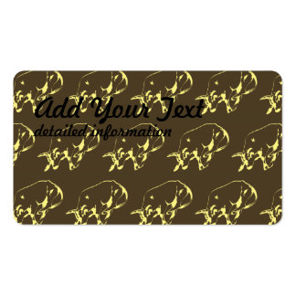 Raging Bull Dark yellows Pack Of Standard Business Cards