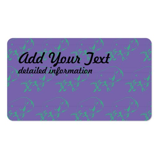 Raging Bull Green Purple Business Card
