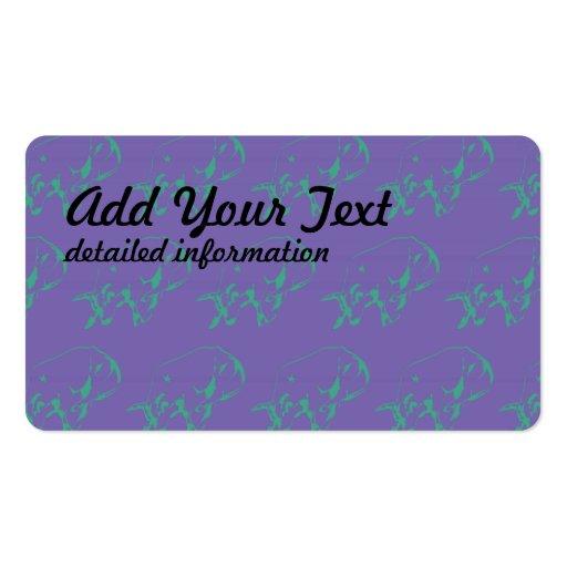 Raging Bull Green Purple Business Card
