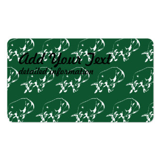 Raging Bull Green White Pack Of Standard Business Cards