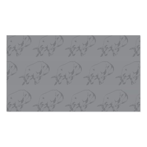 Raging Bull Grey Business Card Template